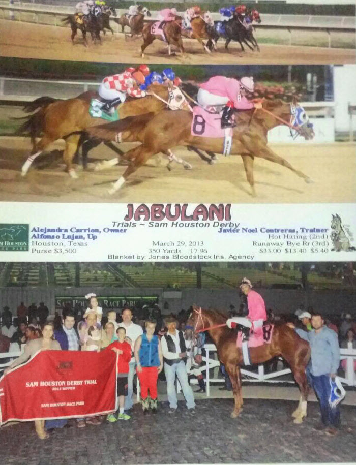 Jabulani Sam Houston Derby Trials 2013