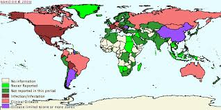 Casos de Anemia Infecciosa Equina (AIE) en el Mundo