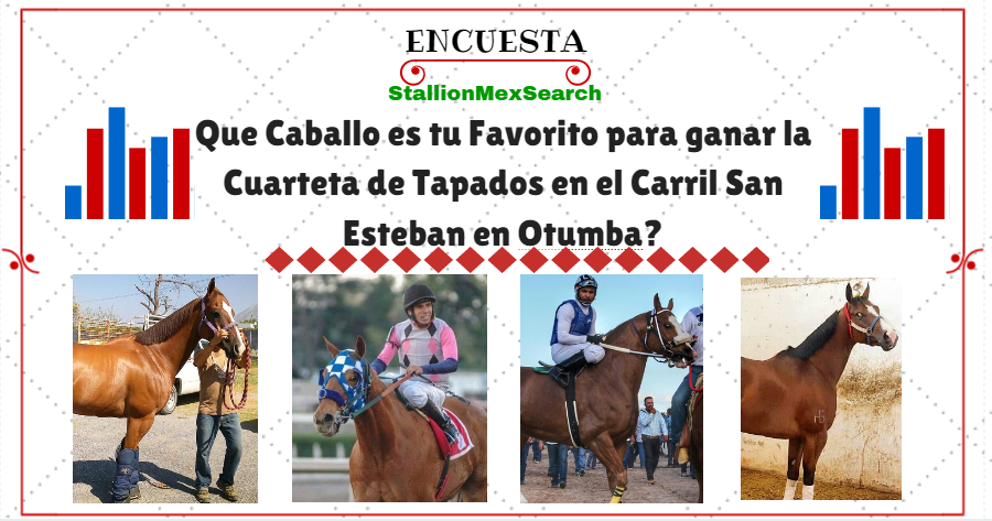 Que Caballo es tu Favorito para ganar la Cuarteta de Tapados en el Carril San Esteban en Otumba?